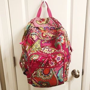 Vera Bradley Lighten Up Large Backpack Pink Swirls